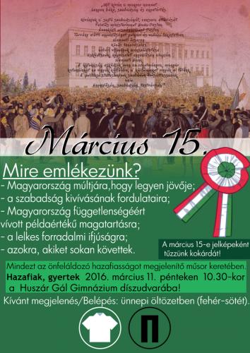 Március 15-ei ünnepség